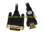 Кабель мультимедийный HDMI to DVI 24+1pin M, 1.8m Viewcon (VD 078-1,8м.) для компьютера