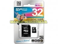 Карта памяти Silicon Power 32Gb microSDHC class 10 (SP032GBSTH010V10SP) для компьютера