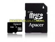 Карта памяти Apacer microSDHC Class4 4GB w/ 1 Adapter RP (AP4GMCSH5-R)