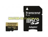 Карта памяти Transcend 64GB microSD class10 UHS-I U3 (TS64GUSDU3) для компьютера