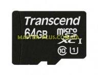 Карта памяти Transcend 64Gb microSDXC Class10 UHS-I (TS64GUSDU1) для компьютера