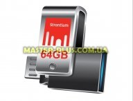 USB флеш накопитель STRONTIUM Flash 64GB Nitro Plus Silver OTG USB 3.0 (SR64GSLOTG1Z)
