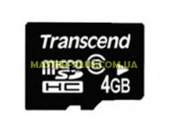 Карта памяти 4Gb microSDHC class 6 Transcend (TS4GUSDC6)