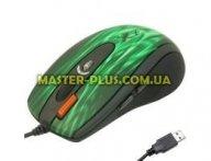 Мышка A4-tech XL-750BK green fire