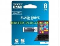 USB флеш накопитель GOODRAM 8GB UCU2 Cube Graphite USB 2.0 (UCU2-0080E0R11) для компьютера