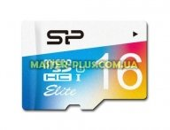 Карта памяти Silicon Power 16GB microSD class10 UHS-I Elite COLOR (SP016GBSTHBU1V20SP) для компьютера