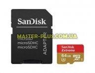 Карта памяти SANDISK 64GB microSDHC Class 10 UHS-I (SDSQXNE-064G-GN6AA)