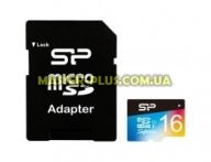 Карта памяти Silicon Power 16GB microSD class10 UHS-I Superior COLOR (SP016GBSTHDU1V20SP) для компьютера