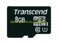 Карта памяти Transcend 8Gb microSDHC Class10 UHS-I (TS8GUSDCU1)
