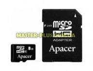 Карта памяти Apacer microSDHC Class4 8GB w/ 1 Adapter RP (AP8GMCSH5-R) для компьютера