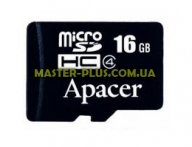 Карта памяти Apacer microSDHC Class4 16GB w/o Adapter RP (AP16GMCSH4-RA) для компьютера