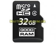 Карта памяти GOODRAM 32GB microSD Class 4 (SDU32GHCGRR10) для компьютера