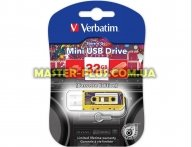 USB флеш накопитель Verbatim 32GB Mini cassette edition Yellow USB 2.0 (49393)