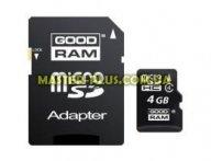 Карта памяти GOODRAM 4Gb microSDHC class 4 (SDU4GHCAGRR10/SDU4GHCAGRR9)