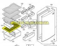 Полка пластиковая над ящиком для овощей LG ACQ30624401 для холодильника