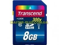 Карта памяти Transcend 8Gb SDHC UHS-I 300x (TS8GSDU1) для компьютера