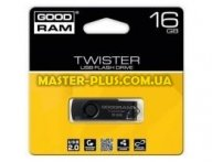 USB флеш накопитель GOODRAM 16Gb Twister Black USB 2.0 (PD16GH2GRTSKKR9)