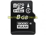 Карта памяти GOODRAM 8GB microSDHC Class 4 (SDU8GHCGRR10) для компьютера