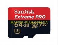 Карта памяти SANDISK 64GB microSD class 10 UHS-I U3 (SDSQXXG-064G-GN6MA)