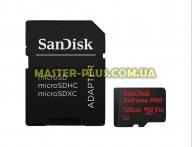 Карта памяти SANDISK 128GB microSDXC class 10 UHS-I 4K Extreme Pro (SDSQXXG-128G-GN6MA) для компьютера