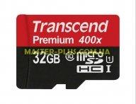 Карта памяти Transcend 32Gb microSDHC UHS-I (TS32GUSDU1) для компьютера