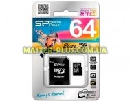 Карта памяти Silicon Power 64GB microSDXC Class 10 UHS-ISDR (SP064GBSTXBU1V10SP)