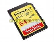Карта памяти SANDISK 64GB SDXC class 10 UHS-I U3 4K Extreme Plus (SDSDXWF-064G-GNCIN)