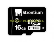Карта памяти STRONTIUM Flash Miсro-SD memory card 16Gb Class 10 (SR16GTFC10R) для компьютера