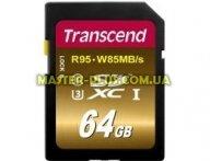 Карта памяти Transcend 64GB SDXC class 10 UHS-I U3 (TS64GSDU3X) для компьютера