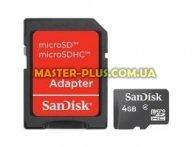 Карта памяти SANDISK 4Gb microSDHC class 4 (SDSDQM-004G-B35A)