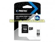 Карта памяти Pretec 64Gb microSDXC UHS-I (STSX64G-SA)
