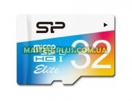Карта памяти Silicon Power 32GB microSD class10 UHS-I Elite COLOR (SP032GBSTHBU1V20SP)
