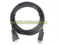 Кабель мультимедийный Display Port to DVI 24+1pin, 1.0m Cablexpert (CC-DPM-DVIM-1M)