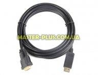 Кабель мультимедийный Display Port to DVI 24+1pin, 1.0m Cablexpert (CC-DPM-DVIM-1M) для компьютера