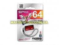 USB флеш накопитель Silicon Power 64GB Touch 810 Red USB 2.0 (SP064GBUF2810V1R) для компьютера