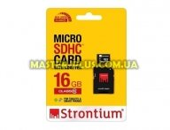 Карта памяти STRONTIUM Flash 16G microSDHC Class 10 (SR16GTFC10A)