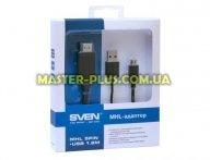 Кабель мультимедийный HDMI F to Micro USB BM, MHL SVEN (1300127) для компьютера