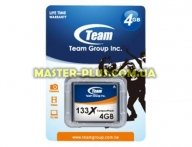 Карта памяти Team 4GB Compact Flash 133x (TCF4G13301) для компьютера