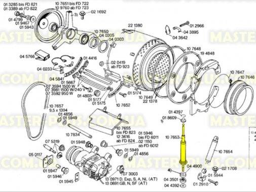 Купить Амортизатор пружинный Bosch Siemens с шариком на штоке 107653, Beko