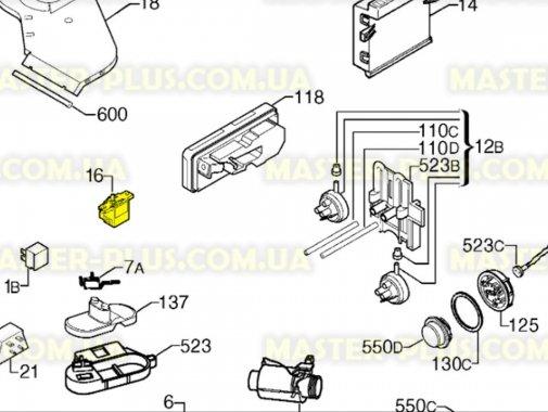 Купить Сетевая кнопка на 5 контактов Electrolux Zanussi AEG 1111433007
