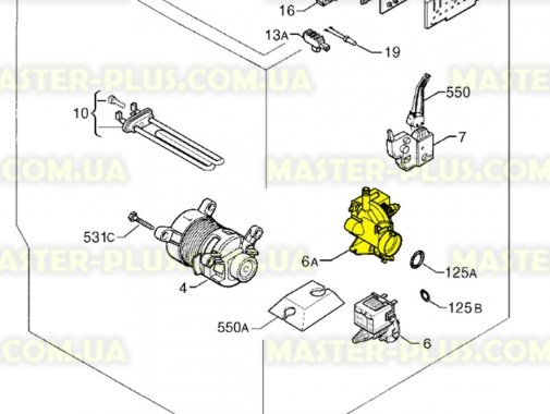 Циркуляционный насос Electrolux 1240794113 для стиральной машины