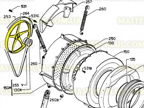 Купить Шкив Electrolux Zanussi AEG 1246398000