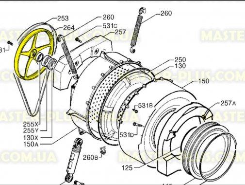 Купить Шкив Electrolux Zanussi AEG 1260393002