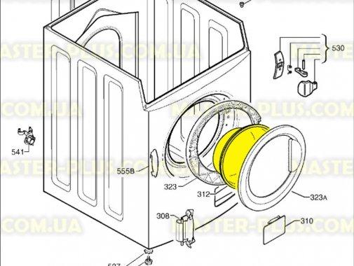 Стекло дверки (люка) Electrolux Zanussi  1260581002 для стиральной машины