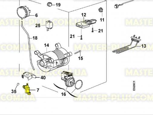 Впускний клапан 1/90 під фішку Zanussi 1462030113 для пральної машини