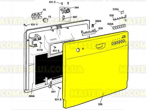 Наружная панель двери посудомоечной машины Electrolux 1560863019 для посудомоечной машины