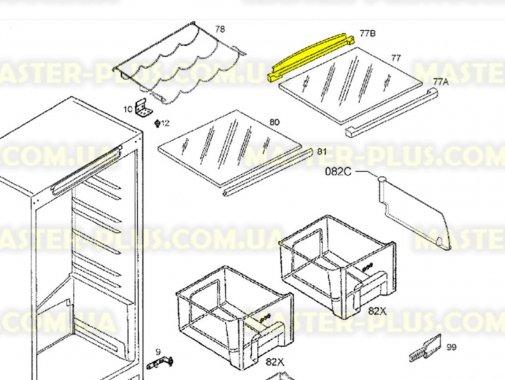Купить Обрамление стеклянной полки (заднее) Zanussi 2425096019