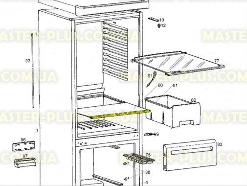 Купить Обрамление стеклянной полки (переднее) Zanussi 2425097090, Electrolux
