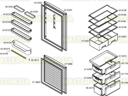 Декоративная планочка для Холодильника Bosch Siemens 439159 для холодильника