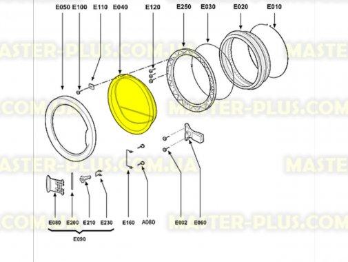 Стекло дверки (люка) Whirlpool 480111101165 для стиральной машины
